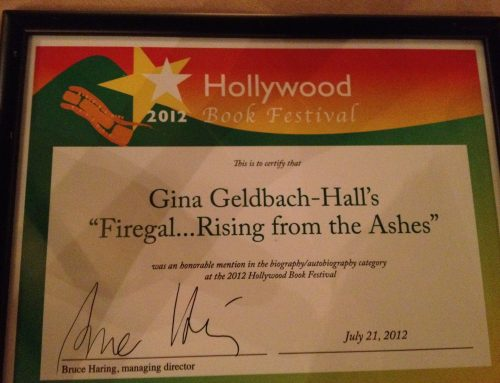 2012 Hollywood Book Festival Certificate